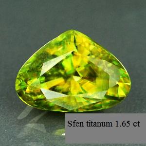Sfen titanum 1.65 ct
