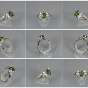 Prsten stříbrný s Apatitem